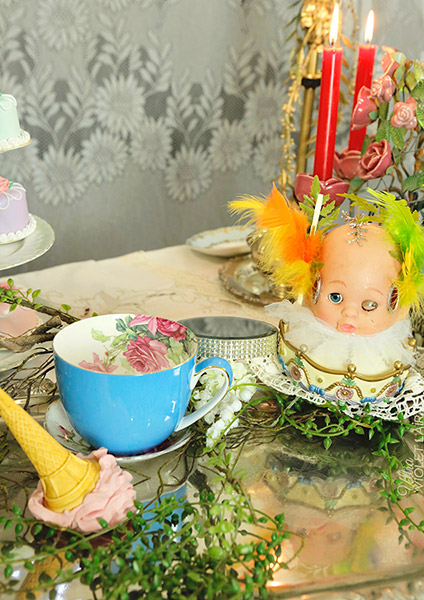 digital artwork, send your photo, placement in doll head scene