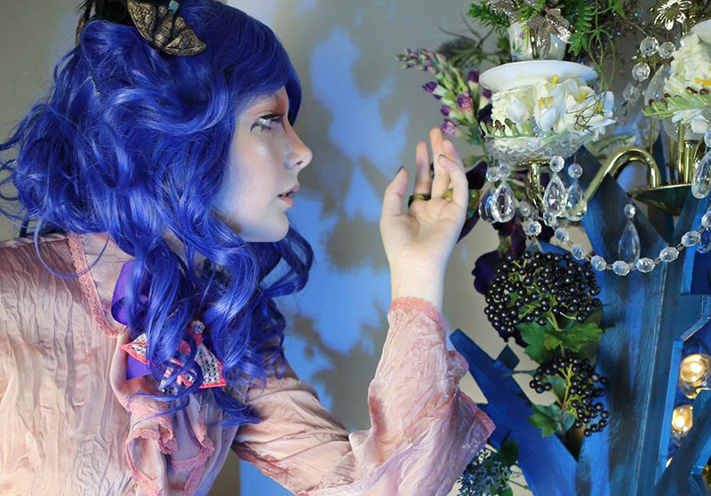 The Lair - Studio space in Sydney, model Charlotte at the tea cup enchanted tree