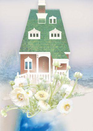 digital artwork, send your photo, placement in W Rabbit house winter delight scene