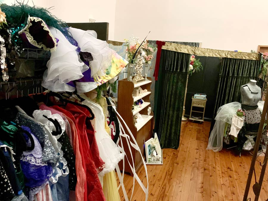 The Lair - Studio space, view from costumes