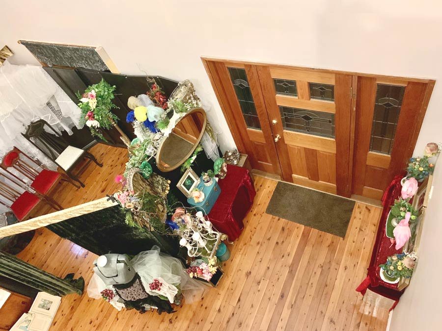 The Lair - Studio space, view of Front of House from above